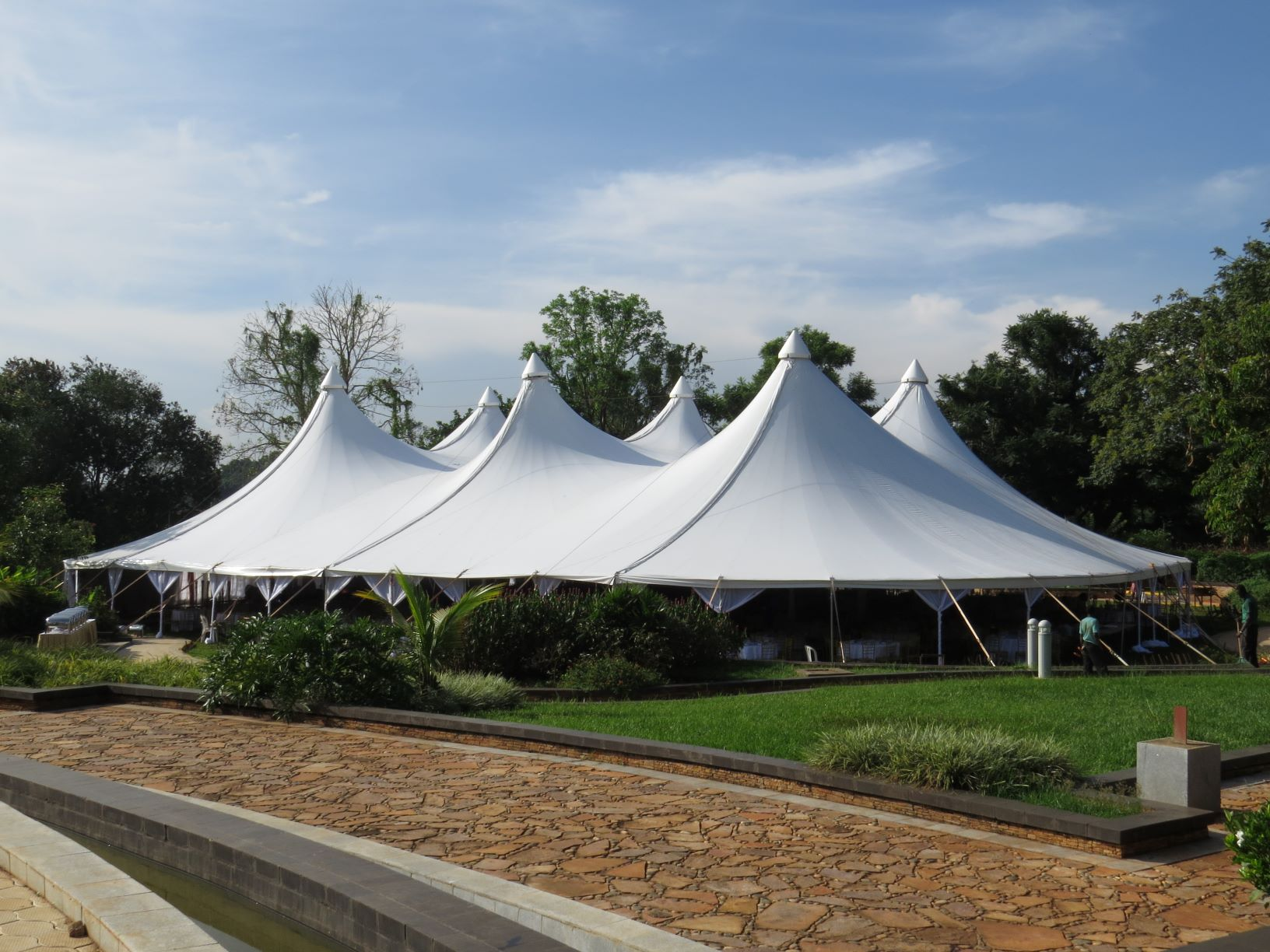 Our Alpine Tent is a customer favorite for weddings and introductions